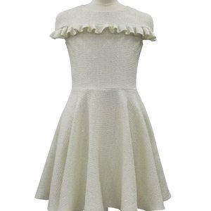 New David Charles Tweed-Cap Dress